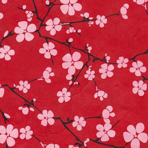 Lokta Paper Origami Pack Blossom White On Red