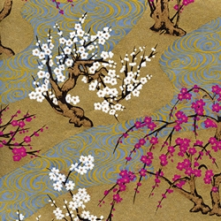 Japanese Chiyogami Yuzen Paper - CHERRY BLOSSOMS
