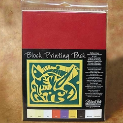 Block Printing Pack Assorted Colors - 45 Sheets