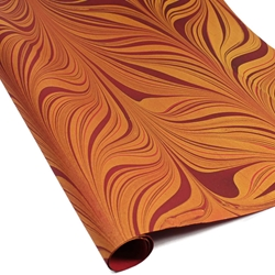 Marbled Indian Cotton Rag Paper - RED GOLD
