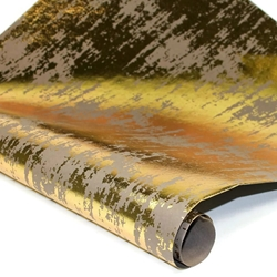 Metallic Foil Indian Cotton Rag Paper - GRAY/GOLD