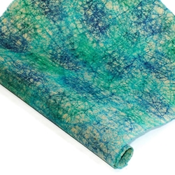 Nepalese Batik Lokta Paper - Vein - BLUE/PURPLE/GREEN