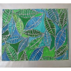 EMBOSSED PAPER PAINTING