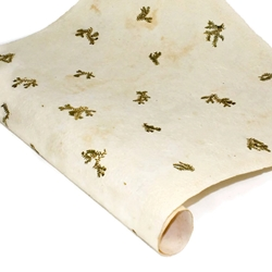 Amate Bark Paper - Solid Pattern - CREAM WITH FERN