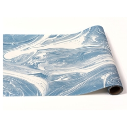 Paper Table Runner Roll - BLUE MARBLED-20 Inches x 25Feet
