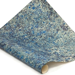 Italian Marbled Paper - STONE - Blues