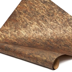 Italian Marbled Paper - COMBED - Brown/Black