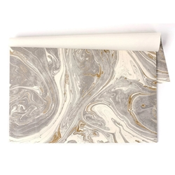 Paper Placemats - GRAY & GOLD MARBLED