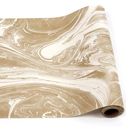 Attrayant Paper Table Runner Roll   GOLD MARBLED 20 Inches X 25Feet