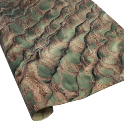 Italian Marbled Paper - DRAGON SKIN - Green/Brown