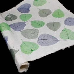 Heavyweight Mulberry Paper - Bodhi Leaf - BLUE/GREEN