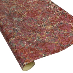 Italian Marbled Paper - STONE - Red/Black