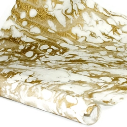 Marbled Momi Paper - WHITE/GOLD
