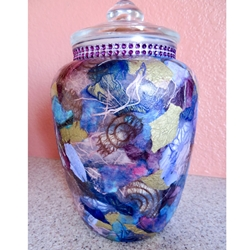 Decoupage Storage Container