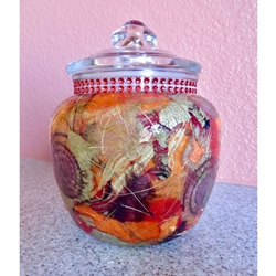 Decoupage Storage Containers