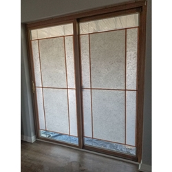 Shoji Screen Effect on Sliding Door