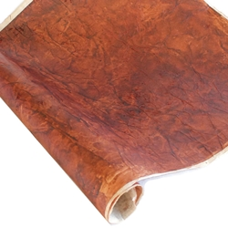 Nepalese Lokta Paper - Leather - CURRY