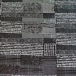 Lokta Paper Origami Pack - Silkscreened Nepalese Lokta Paper - Quilted Dots - SILVER ON BLACK