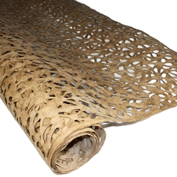 Amate Bark Paper - Spiderweb - BUCKSKIN