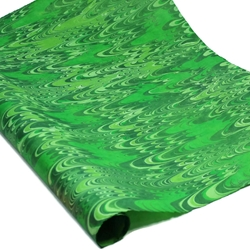 Marbled Lokta Paper - Three Green Combed - GREENS