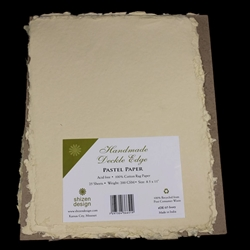 Handmade Deckle Edge Indian Cotton Paper Pack - IVORY