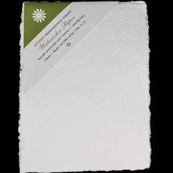 Handmade Deckle Edge Indian Cotton Watercolor Paper Pack - ROUGH