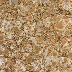 Italian Marbled Origami Paper - STONE - Peach/Silver