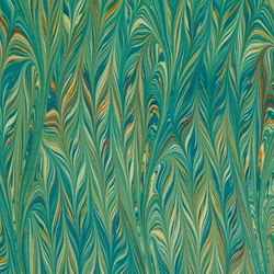 Italian Marbled Origami Paper - TWILLED - Turquoise/Yellow/Orange
