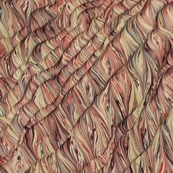 Italian Marbled Origami Paper - STRIPED MOIRE - Red/Black