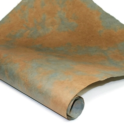 Nepalese Lokta Paper - Pinto - LIGHT BLUE AND WALNUT