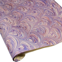 Italian Marbled Paper - BALLOON - Purple/Rust/Blue