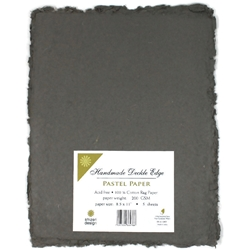 Handmade Deckle Edge Indian Cotton Paper Pack - GRAY