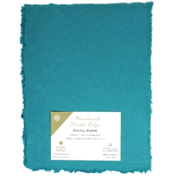 Handmade Deckle Edge Indian Cotton Paper Pack - TURQUOISE