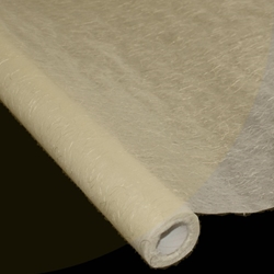 "Korean Hanji Tissue Paper Roll - 18GSM - NATURAL WITH THREADS - 47"" x 65'"