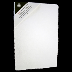 "Handmade Deckle Edge Indian Cotton Watercolor Paper Pack - ROUGH - 12"" x 18"""