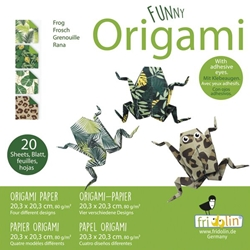 "8"" Origami Paper - Funny Origami - FROGS"