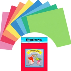 Origami Paper Pack - MIXED SOLID COLORS - 4.5""