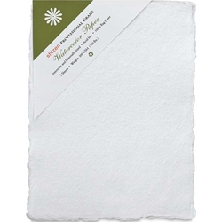 "Handmade Deckle Edge Indian Cotton Watercolor Paper Pack - ROUGH - 4"" x 6"""