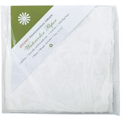"Handmade Deckle Edge Indian Cotton Watercolor Paper Pack - ROUGH - 12"" x 12"""