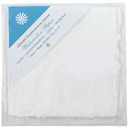 "Handmade Deckle Edge Indian Cotton Watercolor Paper Pack - SMOOTH - 10"" x 10"""