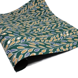 Screenprinted Indian Cotton Rag Paper - WILLOW - EMERALD GREEN