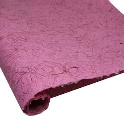 Thai Heavy Mulberry Paper - RICE STRAW - SHOCKING PINK
