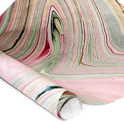 Thai Marble Paper Red Gold Green